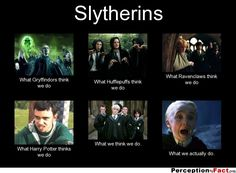 Slytherins... - What people think I do, what I really do - Perception Vs Fact
