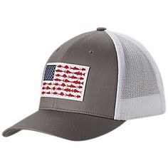 db48316329d Columbia PFG Fish Flag Mesh Ball Cap for Men
