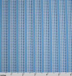 QT Hearts Stripe Blue Remnant 67cm