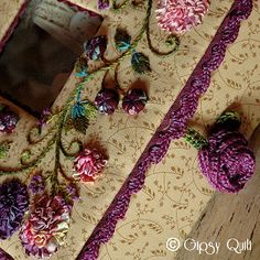 close up ribbon embroidery
