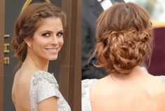 Braided updos might be a little tricky to try on yourself, but this one is worth it.