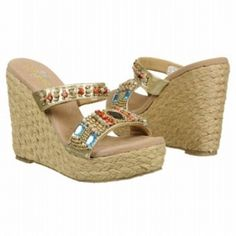 Volatile Cadence Wedge Heels Womens Gold - $69.00 ONLY. Gold Wedge Heels, Gold Wedges, Gold Leather, Me Too Shoes, Espadrilles, Sandals, Women, Fashion, Espadrilles Outfit