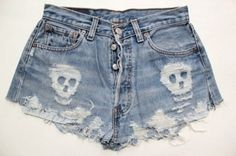 Too bad that my last cutoff shorts DIY project didn't go so well. I am gun shy now. High Waisted Ripped Shorts, Distressed High Waisted Shorts, Jean Shorts, Waisted Denim, Diy Shorts, Rock Style, My Style, Diy Pantalones Cortos, Tumblr Outfits