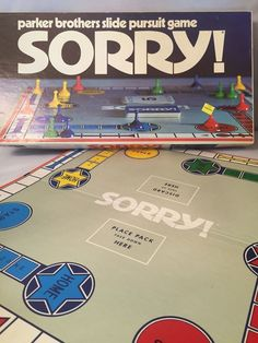 Vintage 1972 Parker Brothers Slide Pursuit Game Sorry! COMPETE! Board Game  #ParkerBrothers