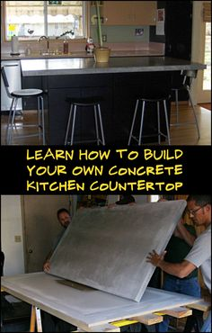 How to Make a Concrete Countertop Purpose Built For Your Kitchen Area