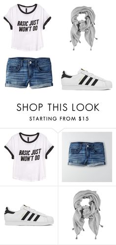 """""""Başlıksız #34"""" by alaramgundas ❤ liked on Polyvore featuring H&M, American Eagle Outfitters, adidas, women's clothing, women, female, woman, misses and juniors"""