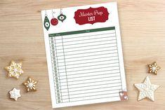 Holiday Master Prep List Printable