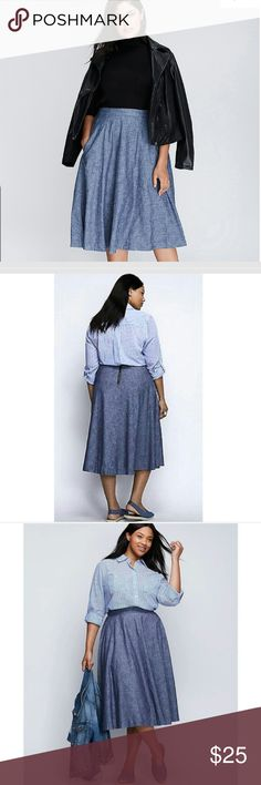 Lightweight denim Skirt Brand new lightweight denim skirt from Lane Bryant these units are true to size comes with our Boutique sales tag Lane Bryant Skirts