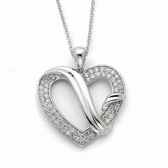 NEW-SENTIMENTAL-EXPRESSIONS-STERLING-SILVER-CZ-FOREVER-GRATEFUL-18-NECKLACE