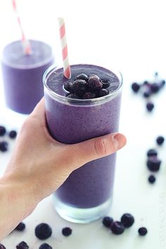 Blueberry Smoothie - Creme De La Crumb -- sounds great and has avocado to make it creamy