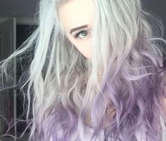Combine purple and grey for a stunning hairstyle! Undercut Hairstyles, Down Hairstyles, Pretty Hairstyles, Hair Color Purple, Green Hair, Purple Ombre, Good Dye Young, Gorgeous Hair, Amazing Hair