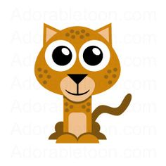 Cheetah Clipart from the website Adorabletoon.com