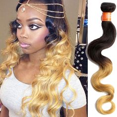 "Hot Sale 20""22""24"" 3Bundles Ombre Body Wave Real Human Hair Extension Wefts 150g #WIGISS #HairExtension"