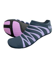 Looks like a perfect gym shoe for travelling. Charcoal & Pink 360 Reflective Minimalist Running Shoe - Women