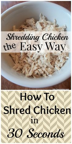 How to Shred Chicken | Saving 4 Six