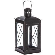Black Metal Lantern - Large Lanterns Decor, Candle Lanterns, Glass Candle, Clear Glass, Black Lantern, Print Coupons, New Home Designs, Led Candles, Grey Wood