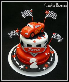 Need to replicate this for Joshua...turning 4. cars cake david 2 - claudia behrens