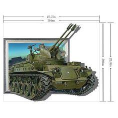 3D De Tanks muurstickers Muurstickers - EUR € 23.26
