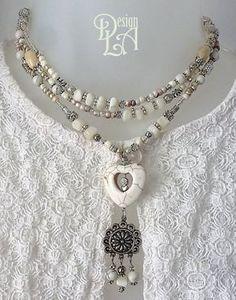 COLLIER GYPSY, bohémien, peace and love, gypsy, bohochic #121 Polymer Clay Jewelry, Wire Jewelry, Boho Jewelry, Antique Jewelry, Beaded Jewelry, Jewelry Box, Jewelery, Jewelry Necklaces, Chunky Necklaces