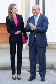 "King Felipe VI of Spain and Queen Letizia of Spain attend the opening of the Vocational Training course at ""Valle Del Cidacos"" Institute on October 7, 2014 in Calahorra, Spain."