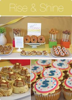 Breakfast themed party food - this would be too cute for the day of prepping!