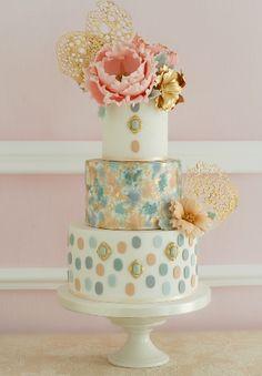 Peony & Isomalt wedding cake by Patricia Arribálzaga