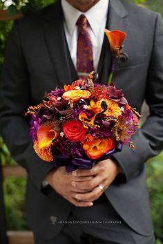 Fall Bouquet on WedOverHeels