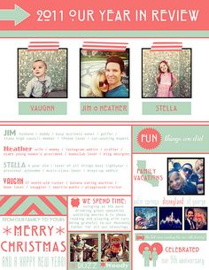 This was our Christmas Newsletter I designed this year...
