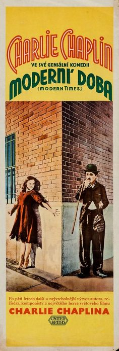 "tempi moderni_2 cz -- | kff | A Czech poster for ""Modern Times"" - 1936 - Chaplin For The Ages"