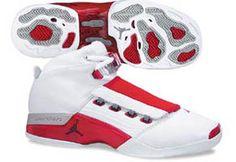 sports shoes 31a9c b7aa4 Nike Air Jordan XVII- White Red Silver