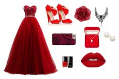"""""""Red carpet"""" by nahlvagher on Polyvore featuring Lipsy, Casetify, Accessorize, Kate Spade, Alexa Starr and Lime Crime"""