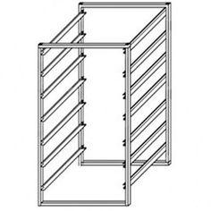 Howards Storage World | White 7 Runner 350mm Mini Frame