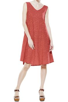 Flared, knee-length and sleeveless dress in cotton with V neck, gathers on the back neckline and tonal embroidery. Neckline, V Neck, Primavera Estate, Embroidery, Formal Dresses, Fashion, Moda, Plunging Neckline, Needlepoint