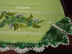 Helena Tassano manuales, pintura sobre tela, clases de pintura, pintura en lienzo: toalla tocador