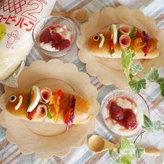 こいのぼり サンド - Google 検索 Fresh Rolls, Tacos, Mexican, Ethnic Recipes, Google, Food, Essen, Meals, Yemek
