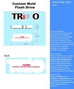 TRiO Custom USB project: Upward Bound Math & Science, California State University, Dominguez Hills 9/18/2013 http://proformatrioideas.com