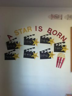 my variation of a Birthday Wall for a Toddler Class! A Star Is Born