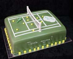 tennis cake by The House of Cakes Dubai, via Flickr