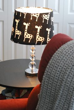 Giraffe Print Lamp Shade (also DIY); our inspiration for the giraffe artwork.