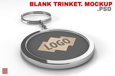 Blank metal keychain. Mockup by Abstract Dimension Shop on @creativemarket