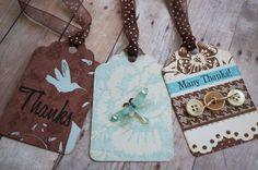 Handmade THANK YOU Gift Tags    A Half a Dozen by MelodysMoments