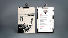 Creative Menus, American, Kitchen, Design, and Clipboard image ideas & inspiration on Designspiration Restaurant Menu Design, Rustic Restaurant, Restaurant Branding, Food Branding, Retro Radios, Le Creuset, Menu Google, American Kitchen, Diy Rustic Decor