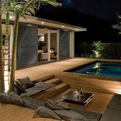 decks with sunken fire pit | fire pit and sunken liftec raises sunken decks patios suspended