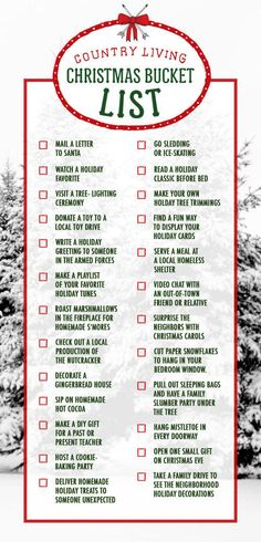 25 Christmas bucket list items. What items have you already checked off?