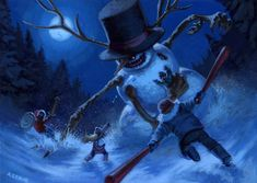 Something wicKED this way comes....: Saturday's Sadistic Snowmen (Creepmas Day 1)