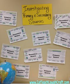 Investigating Primary & Secondary Sources in Social Studies {Hands on Activity!}   Eat Teach Laugh Craft