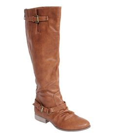 c955c9eca34 Journee Collection Camel Stella Wide-Calf Boot