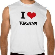 I love Vegans Sleeveless Shirts Tank Tops