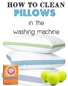 The best way to clean pillows in the washing machine