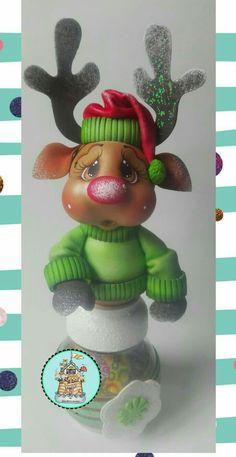 Navidad Royal Icing Transfers, Foam Crafts, Cold Porcelain, Gourds, Bowser, Reindeer, Mousse, Fondant, Christmas Crafts